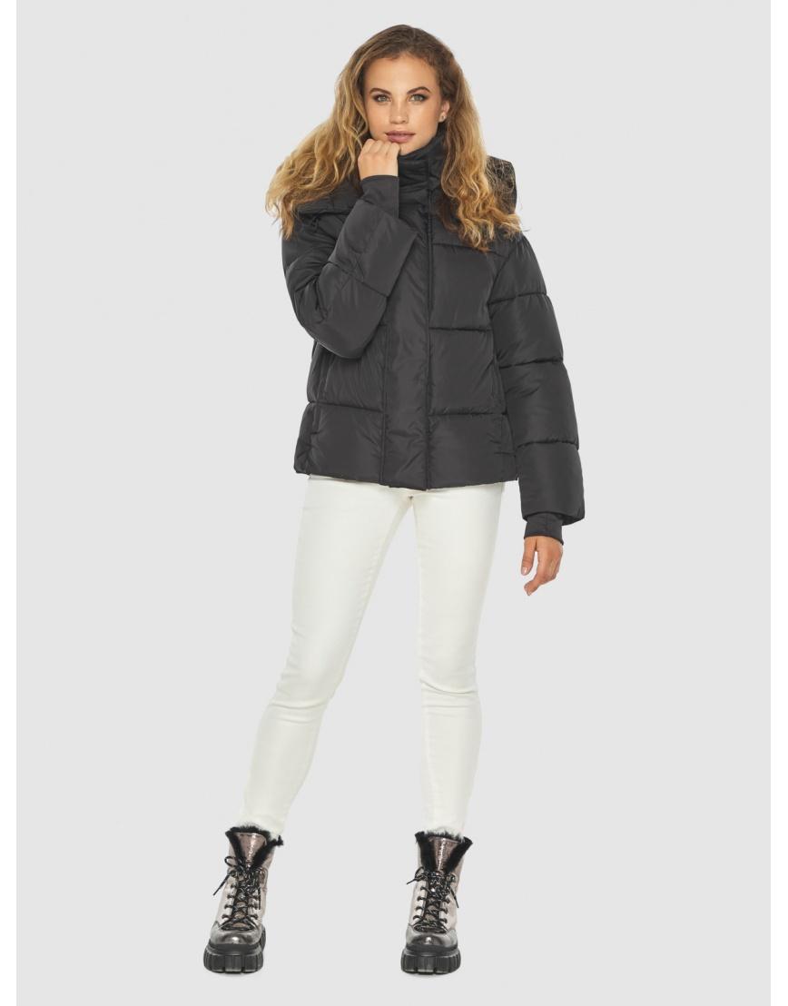 Чёрная куртка комфорная женская Kiro Tokao 60085 фото 5