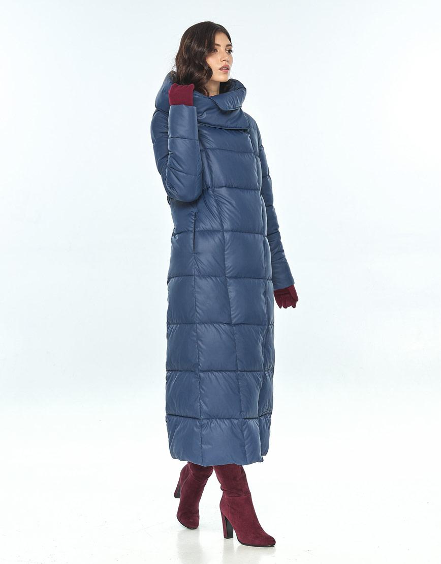Женская синяя куртка Vivacana стильная 8706/21 фото 2