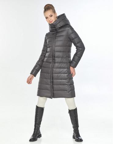Комфортная куртка женская Tiger Force серая для зимы TF-50245 фото 1