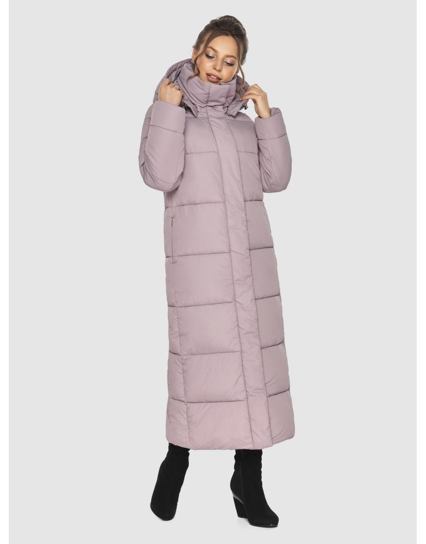 Трендовая женская куртка Ajento пудровая 21972 фото 2