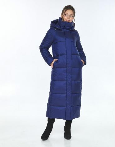Зимняя синяя куртка стильная женская Ajento 21972 фото 1
