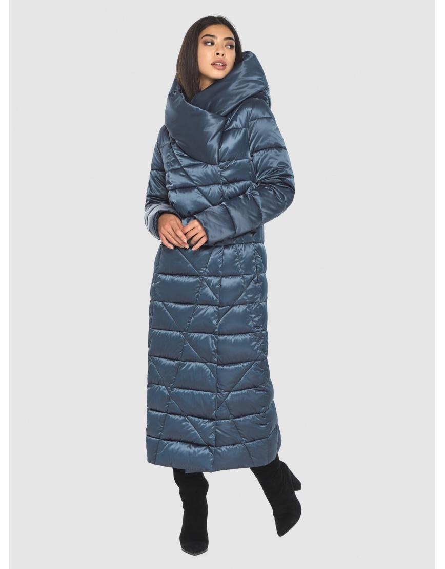 Брендовая куртка Moc женская цвет синий M6715 фото 5