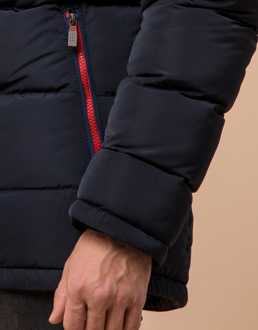 Трендовая куртка темно-синяя подростковая модель 73563 оптом