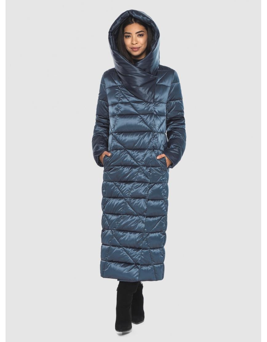 Брендовая куртка Moc женская цвет синий M6715 фото 3