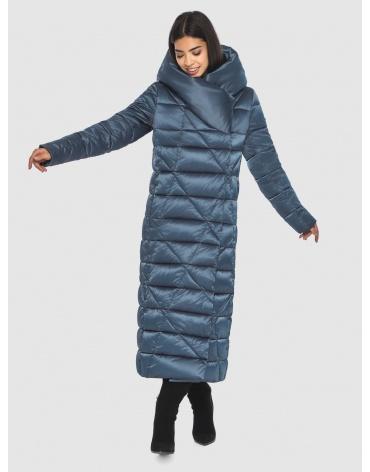 Брендовая куртка Moc женская цвет синий M6715 фото 1