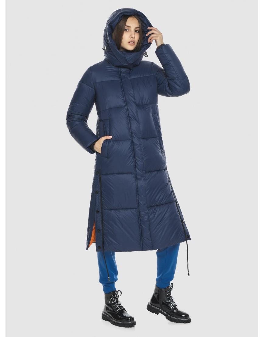 Тёплая подростковая куртка Vivacana зимняя синяя 7654/21 фото 2
