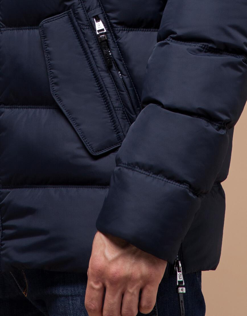 Темно-синяя мужская зимняя куртка модель 20180 оптом фото 5