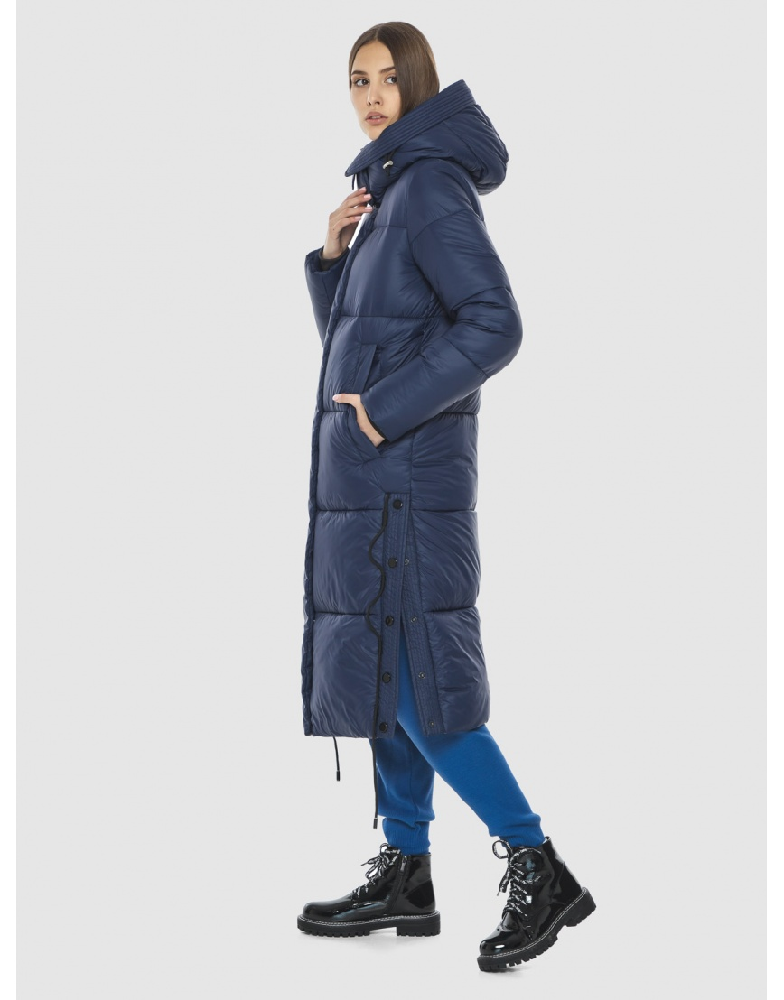 Тёплая подростковая куртка Vivacana зимняя синяя 7654/21 фото 3