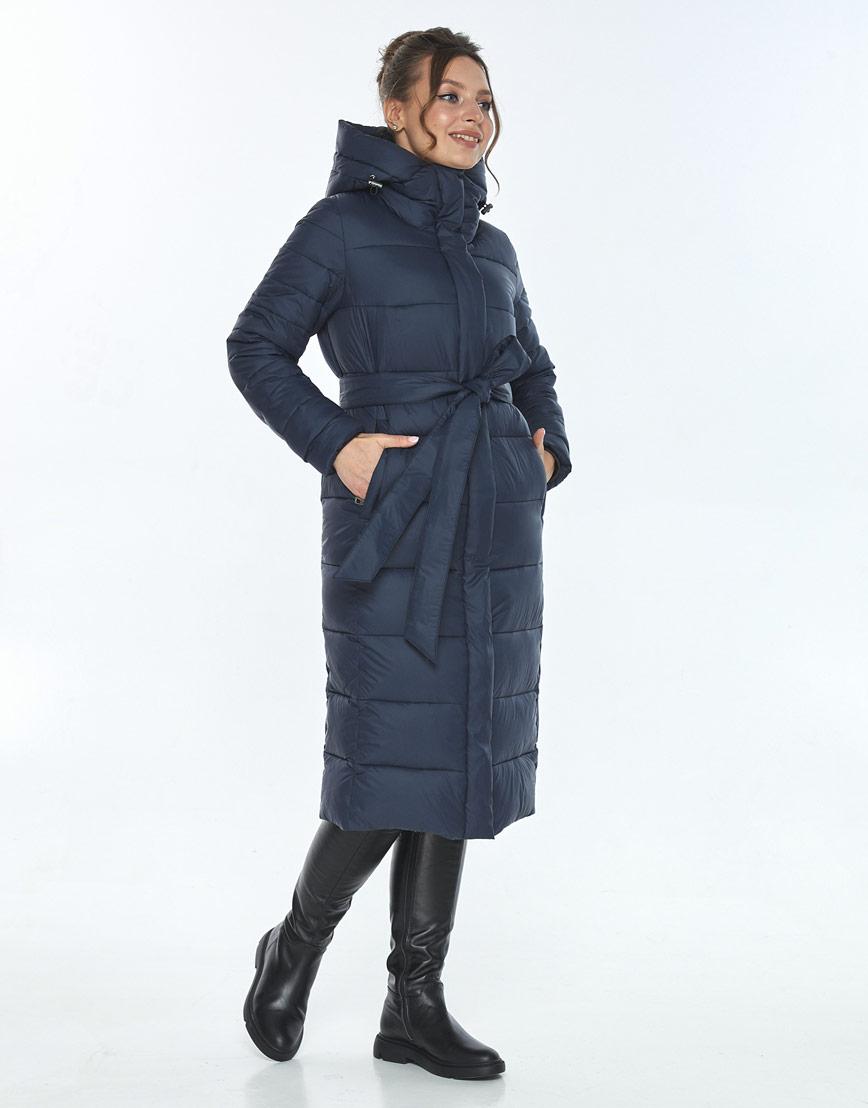 Куртка с карманами женская Ajento зимняя синяя 21152 фото 2
