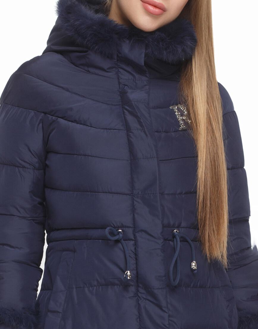 Женская куртка синего цвета модная модель 2003