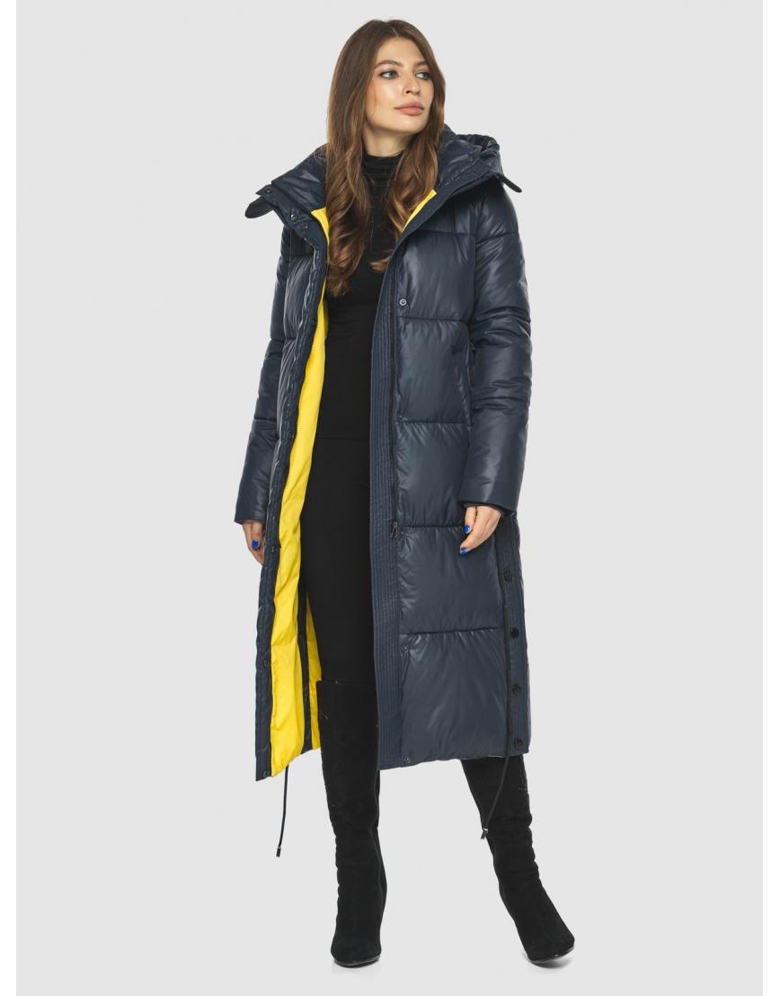 Трендовая синяя куртка подростковая Ajento женская для зимы 23160 фото 2