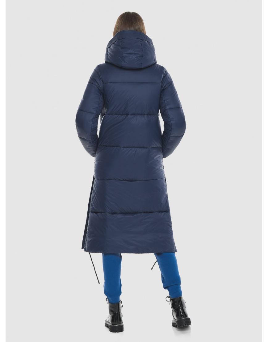 Тёплая подростковая куртка Vivacana зимняя синяя 7654/21 фото 4