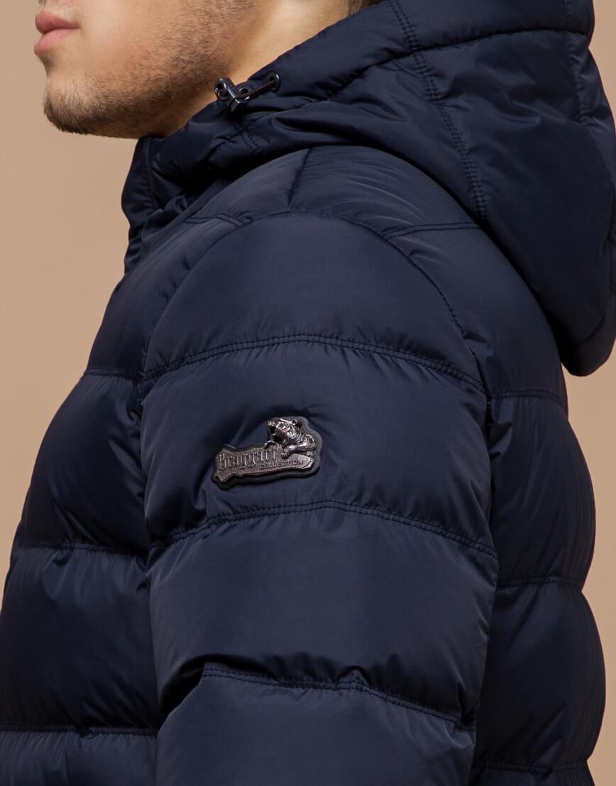 Темно-синяя мужская зимняя куртка модель 20180 оптом фото 6
