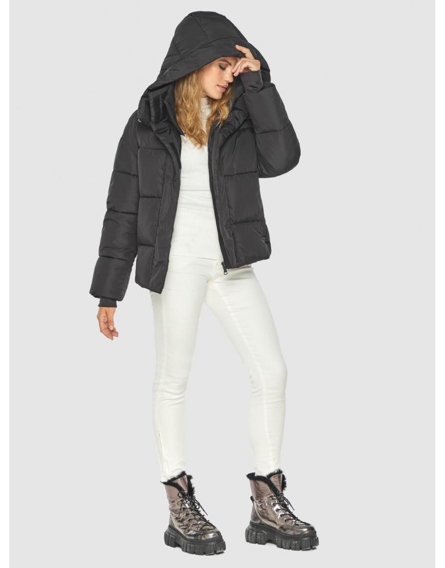 Чёрная куртка комфорная женская Kiro Tokao 60085 фото 2