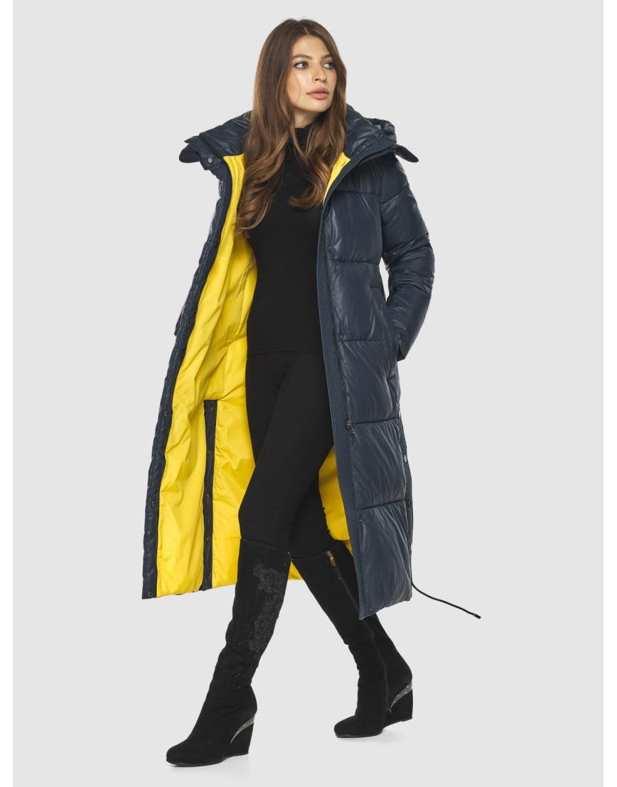 Трендовая синяя куртка подростковая Ajento женская для зимы 23160 фото 6