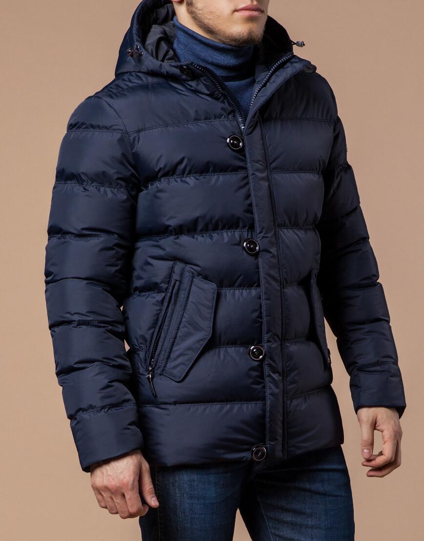 Темно-синяя мужская зимняя куртка модель 20180 оптом фото 1