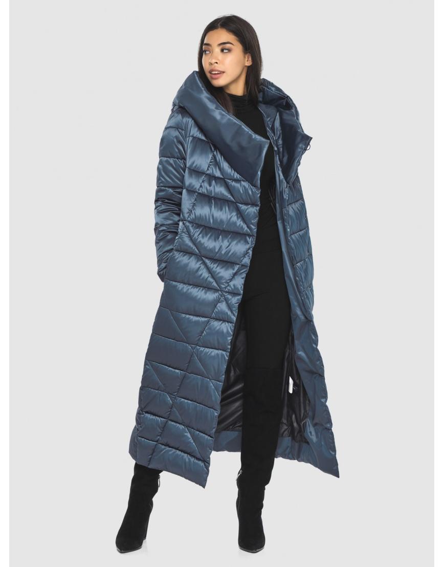 Брендовая куртка Moc женская цвет синий M6715 фото 6