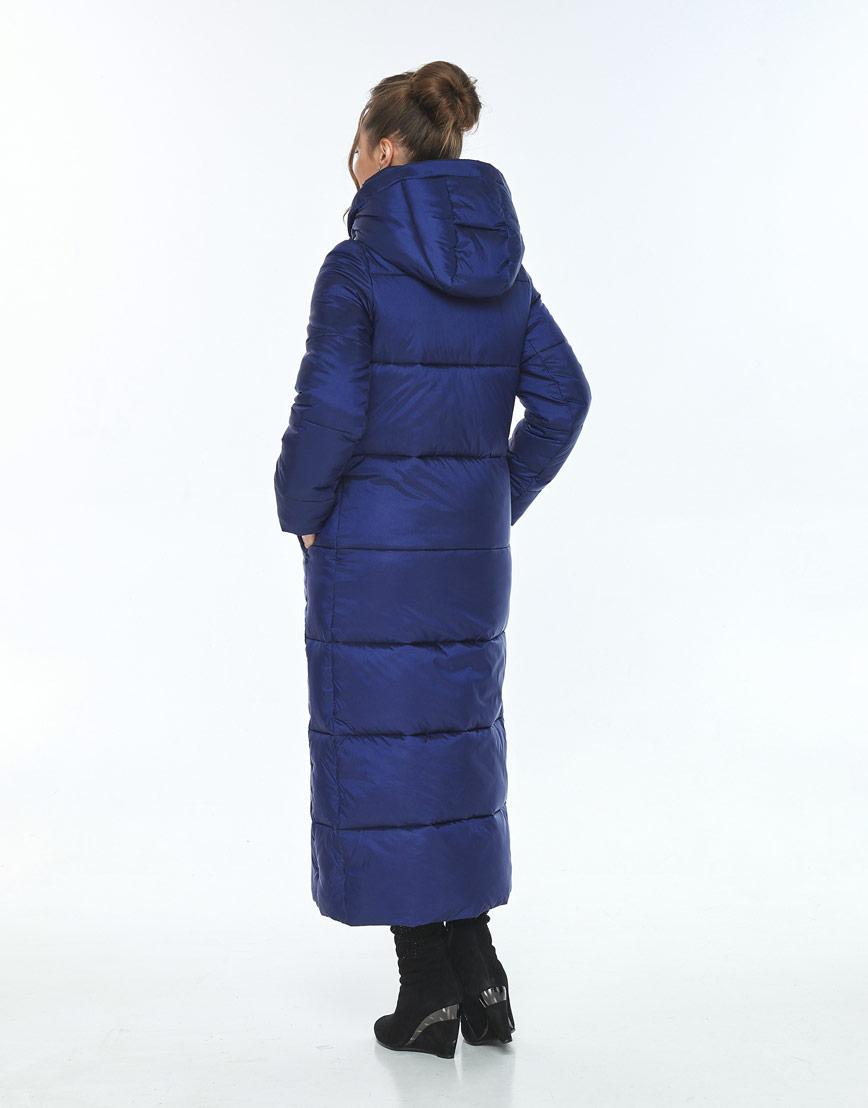 Зимняя синяя куртка стильная женская Ajento 21972 фото 3