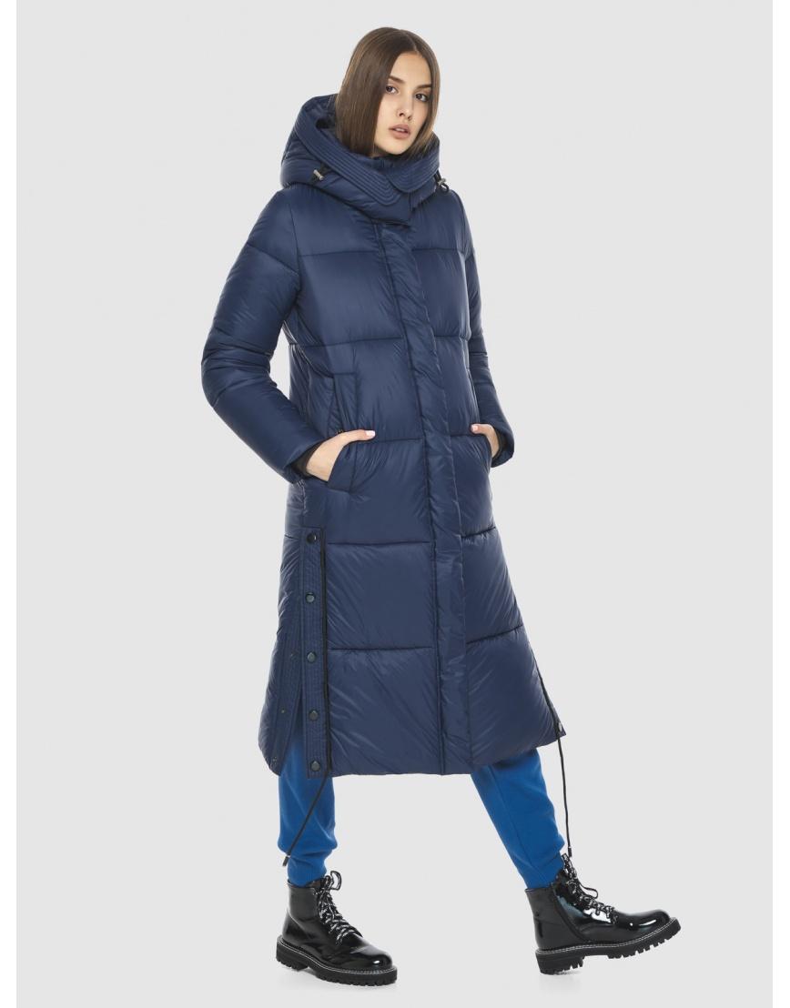 Тёплая подростковая куртка Vivacana зимняя синяя 7654/21 фото 6