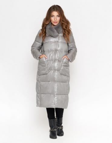 Серая куртка женская практичная модель 8760