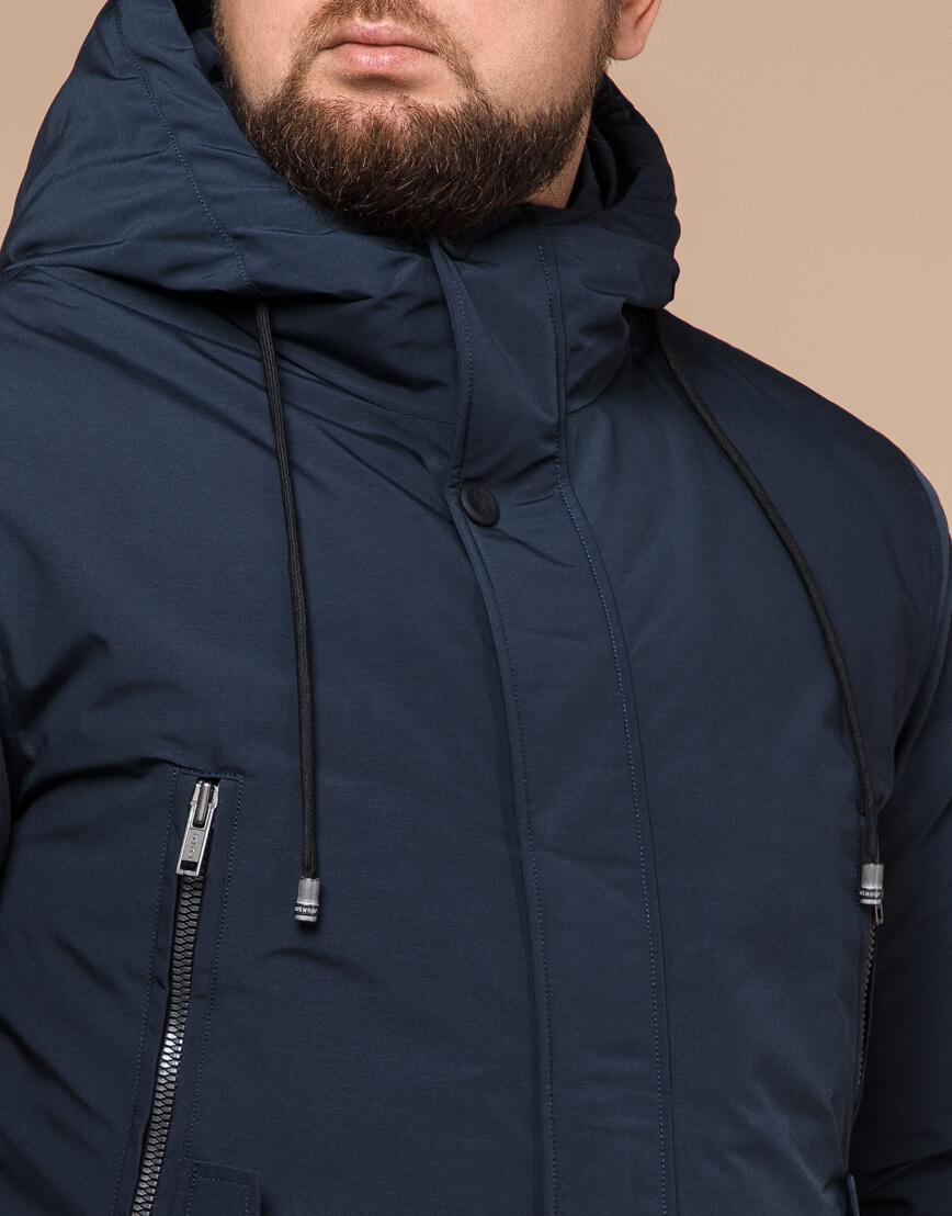 Парка мужская синяя на зиму модель 19058 оптом