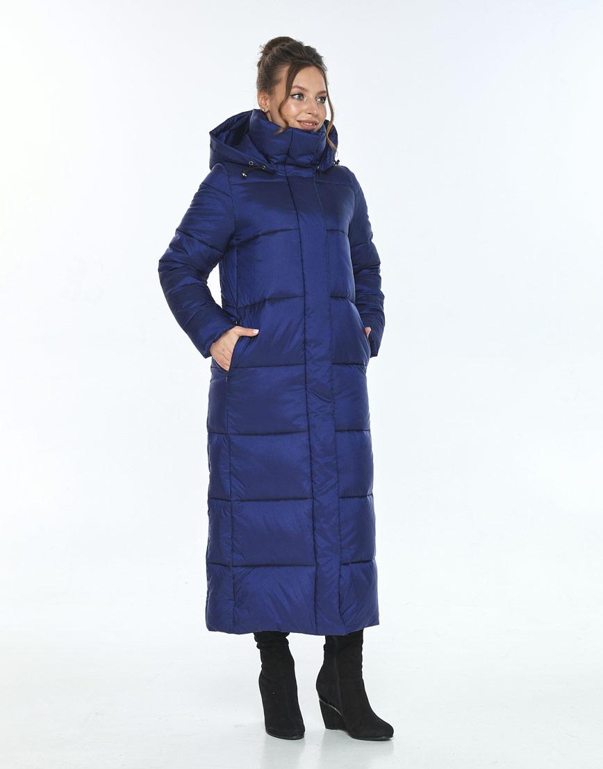 Зимняя синяя куртка стильная женская Ajento 21972 фото 2