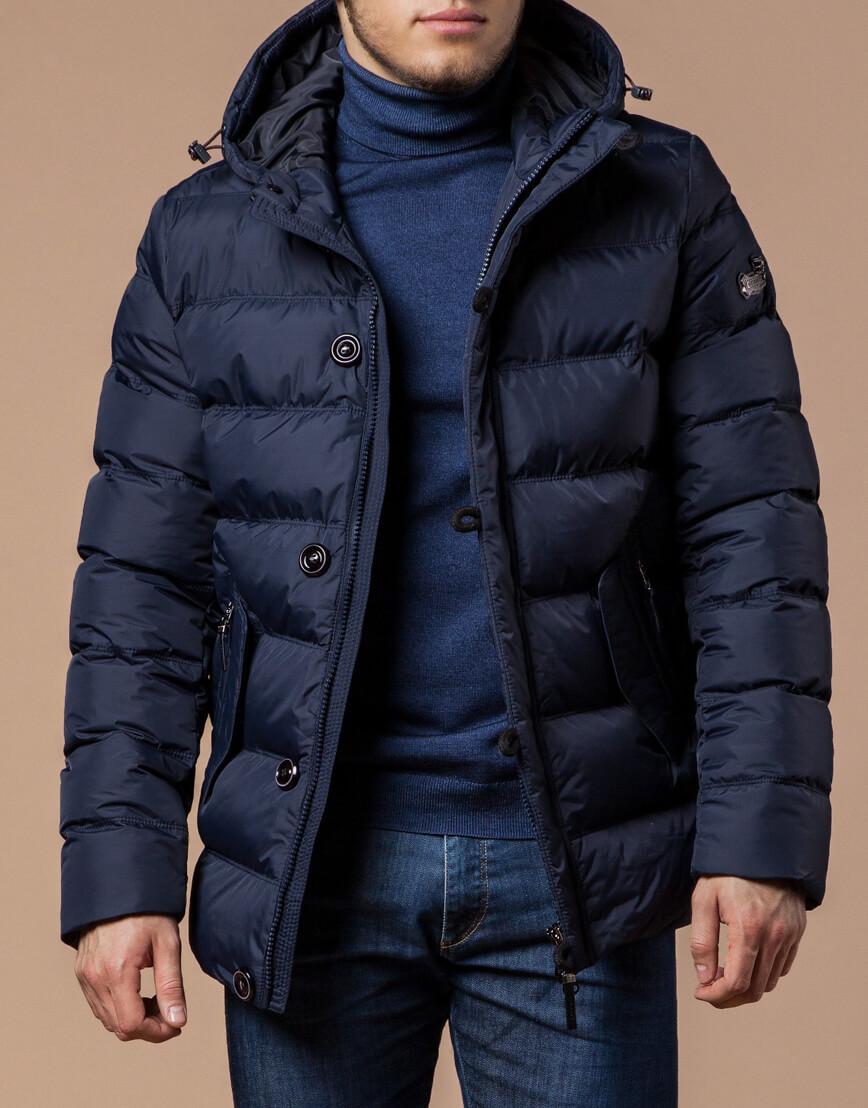 Темно-синяя мужская зимняя куртка модель 20180 оптом фото 2