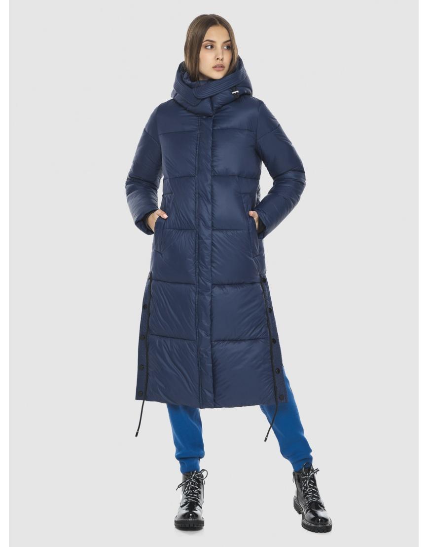 Тёплая подростковая куртка Vivacana зимняя синяя 7654/21 фото 1