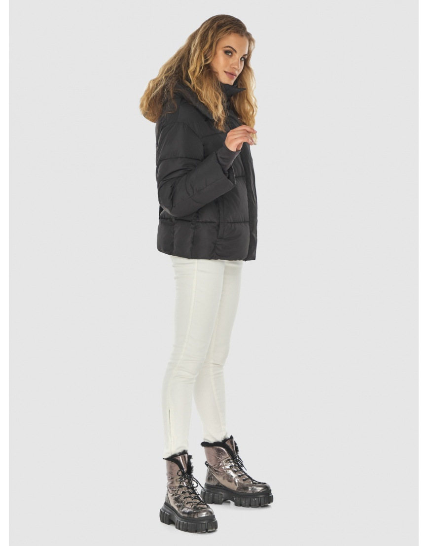 Чёрная куртка комфорная женская Kiro Tokao 60085 фото 6