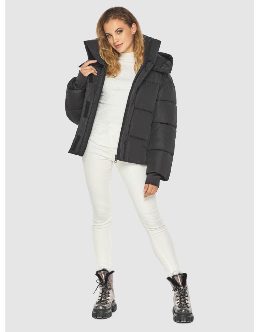 Чёрная куртка комфорная женская Kiro Tokao 60085 фото 3