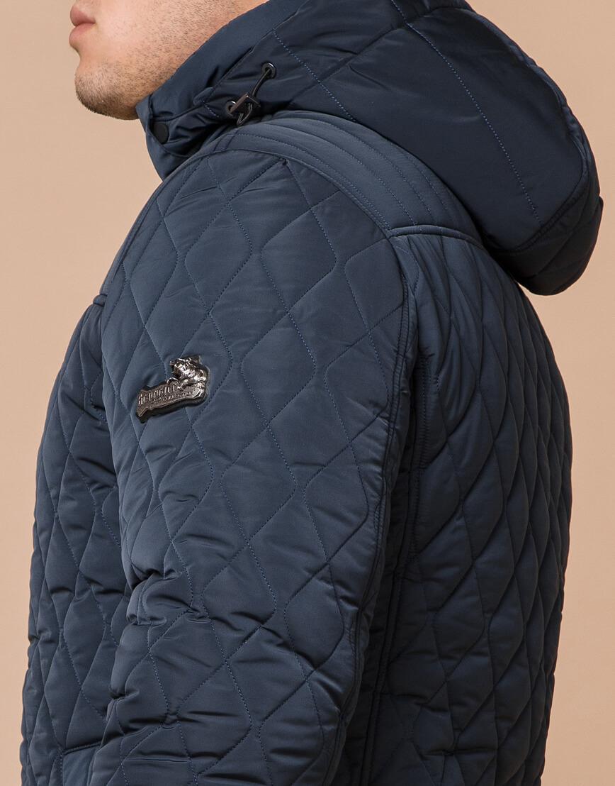 Светло-синяя брендовая куртка модель 24534 фото 6
