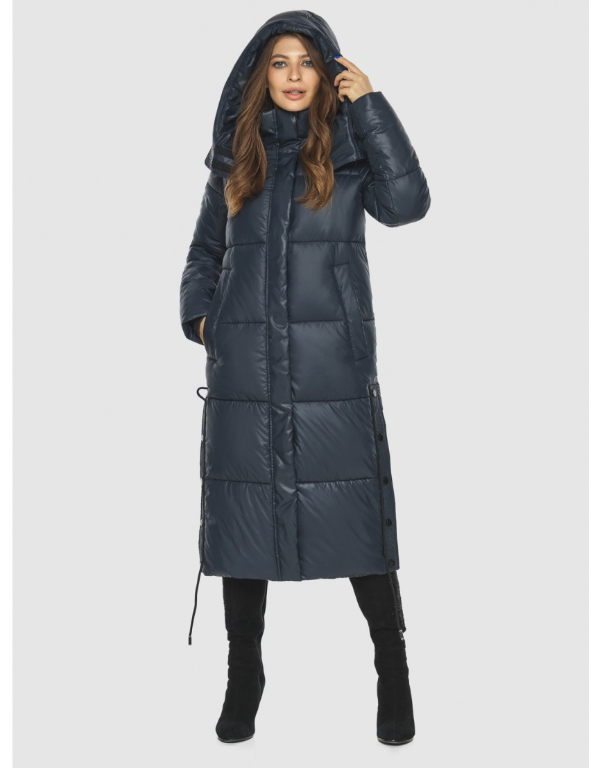 Трендовая синяя куртка подростковая Ajento женская для зимы 23160 фото 3