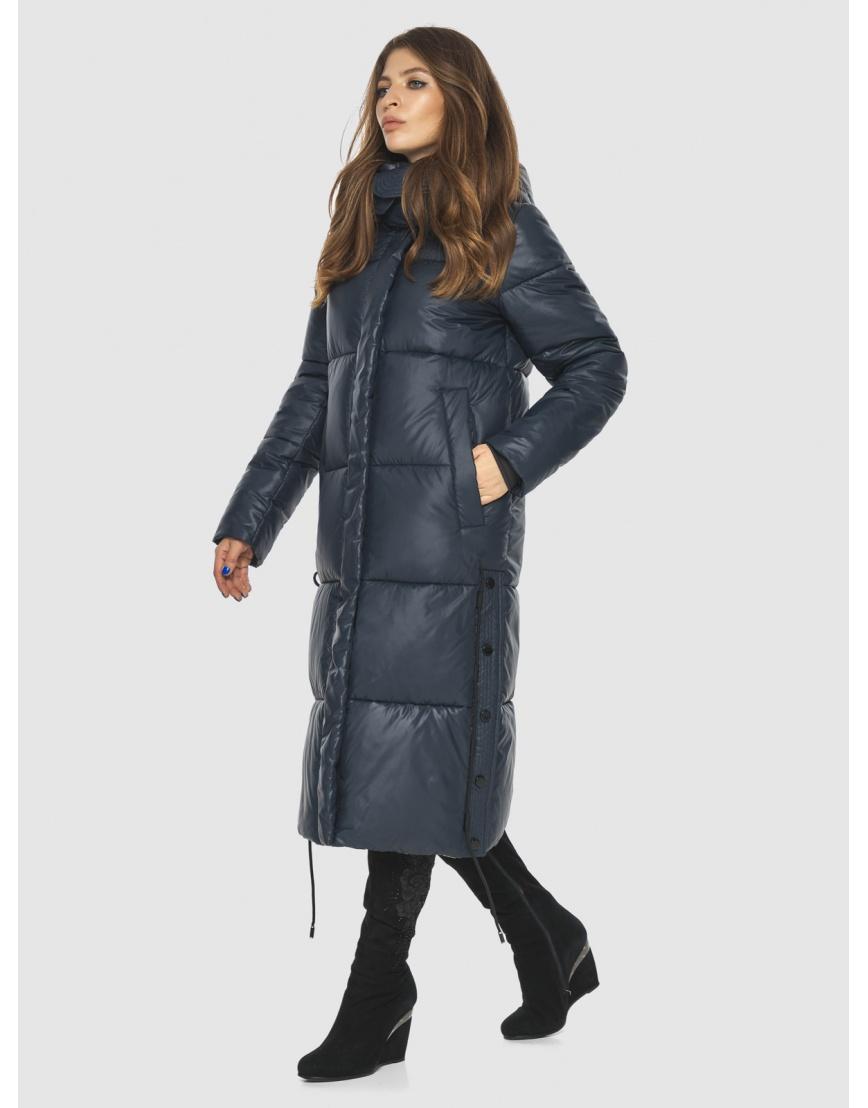 Трендовая синяя куртка подростковая Ajento женская для зимы 23160 фото 5