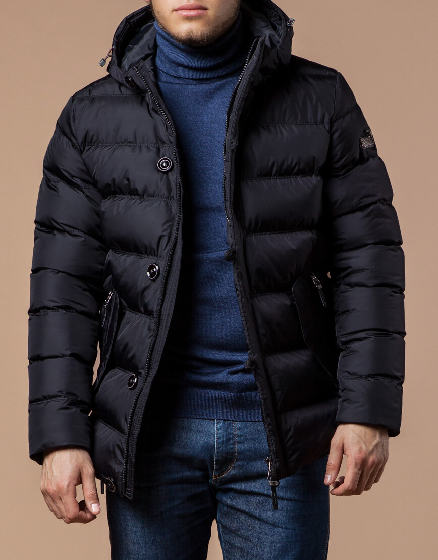 Черная зимняя куртка для мужчин модель 20180 оптом фото 2