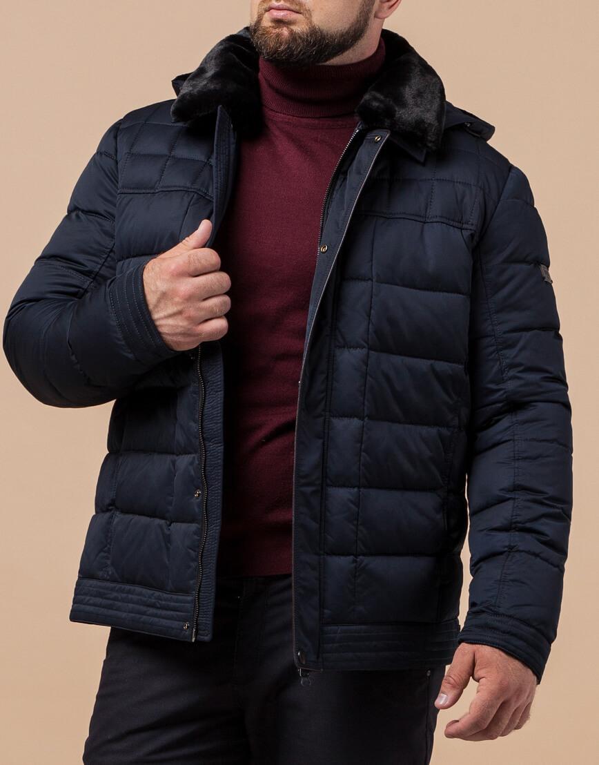 Куртка мужская темно-синяя зимняя модель 17193 оптом