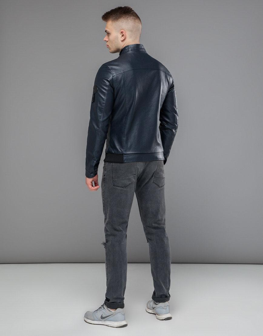 Куртка темно-синяя водонепроницаемая осенне-весенняя модель 43663 фото 4
