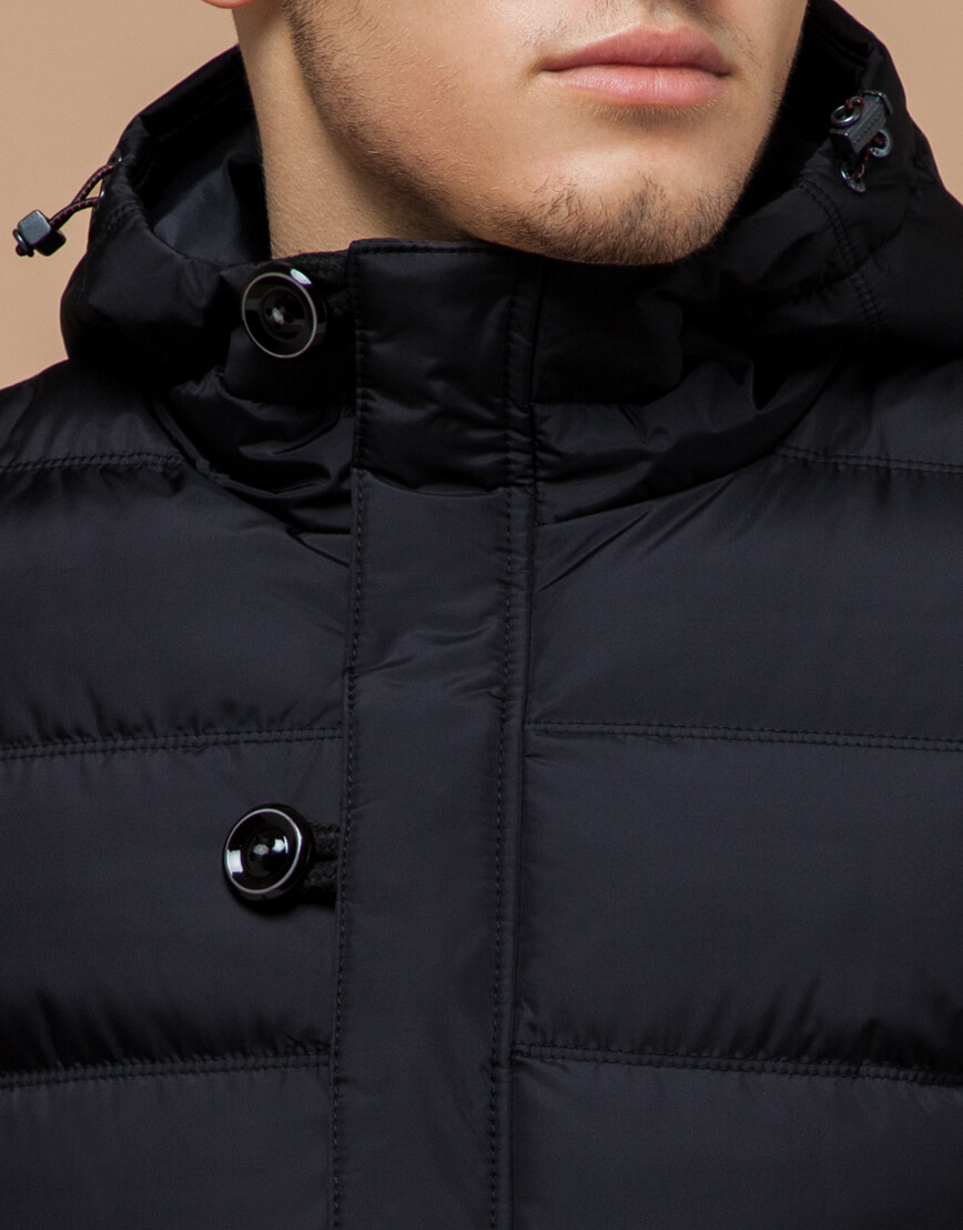 Черная зимняя куртка для мужчин модель 20180 оптом фото 4