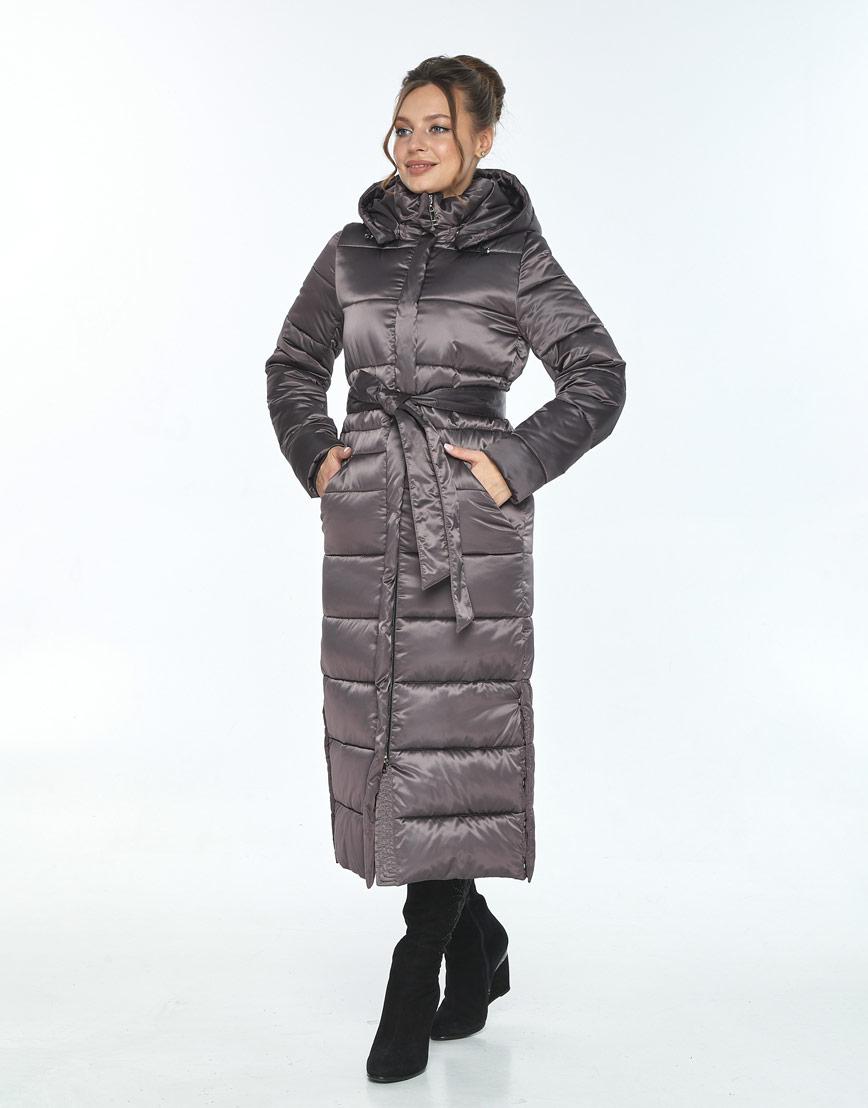 Капучиновая зимняя куртка Ajento женская 21207 фото 2