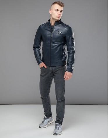 Куртка темно-синяя водонепроницаемая осенне-весенняя модель 43663 фото 1