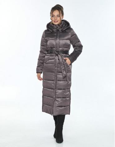 Капучиновая зимняя куртка Ajento женская 21207 фото 1