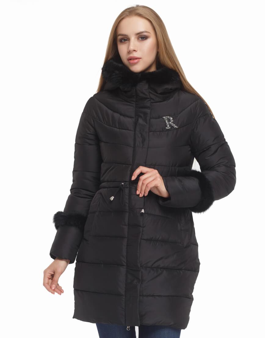 Черная куртка с капюшоном женская модель 2003