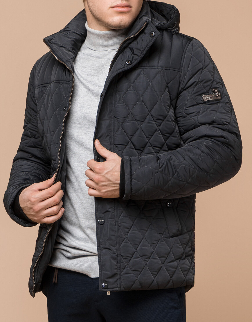 Фирменная графитовая куртка мужская модель 24534 фото 2