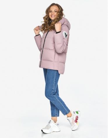 Пуховик куртка Youth женская удобная пудровая модель 23140 фото 1