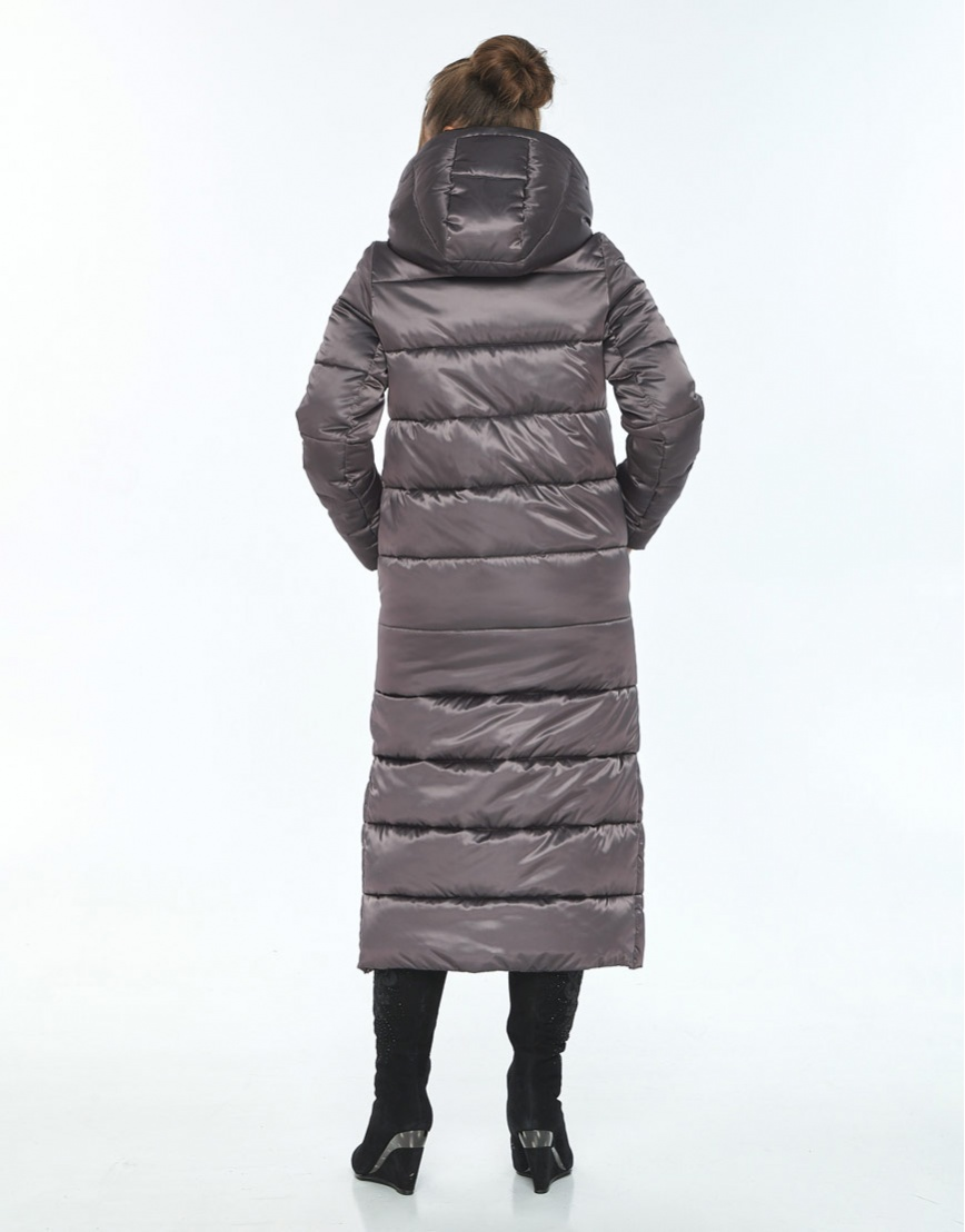 Капучиновая зимняя куртка Ajento женская 21207 фото 3