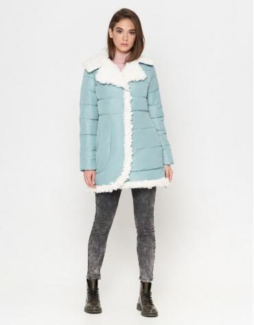 Куртка дизайнерская женская мятная модель 2162