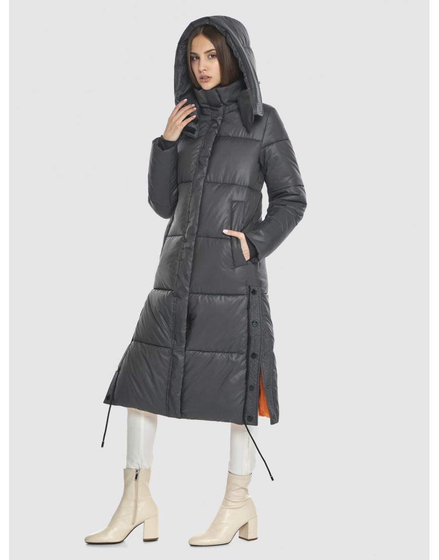 Стильная подростковая зимняя куртка Vivacana серая 7654/21 фото 3