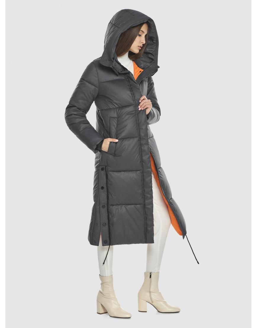Стильная подростковая зимняя куртка Vivacana серая 7654/21 фото 6