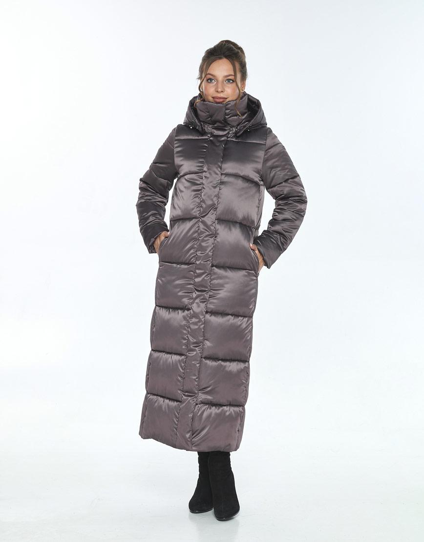 Женская зимняя куртка Ajento удобная капучиновая 21972 фото 2