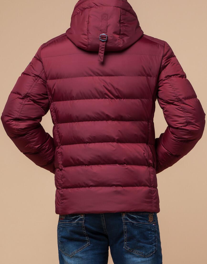 Куртка бордового цвета мужская зимняя модель 20849 оптом