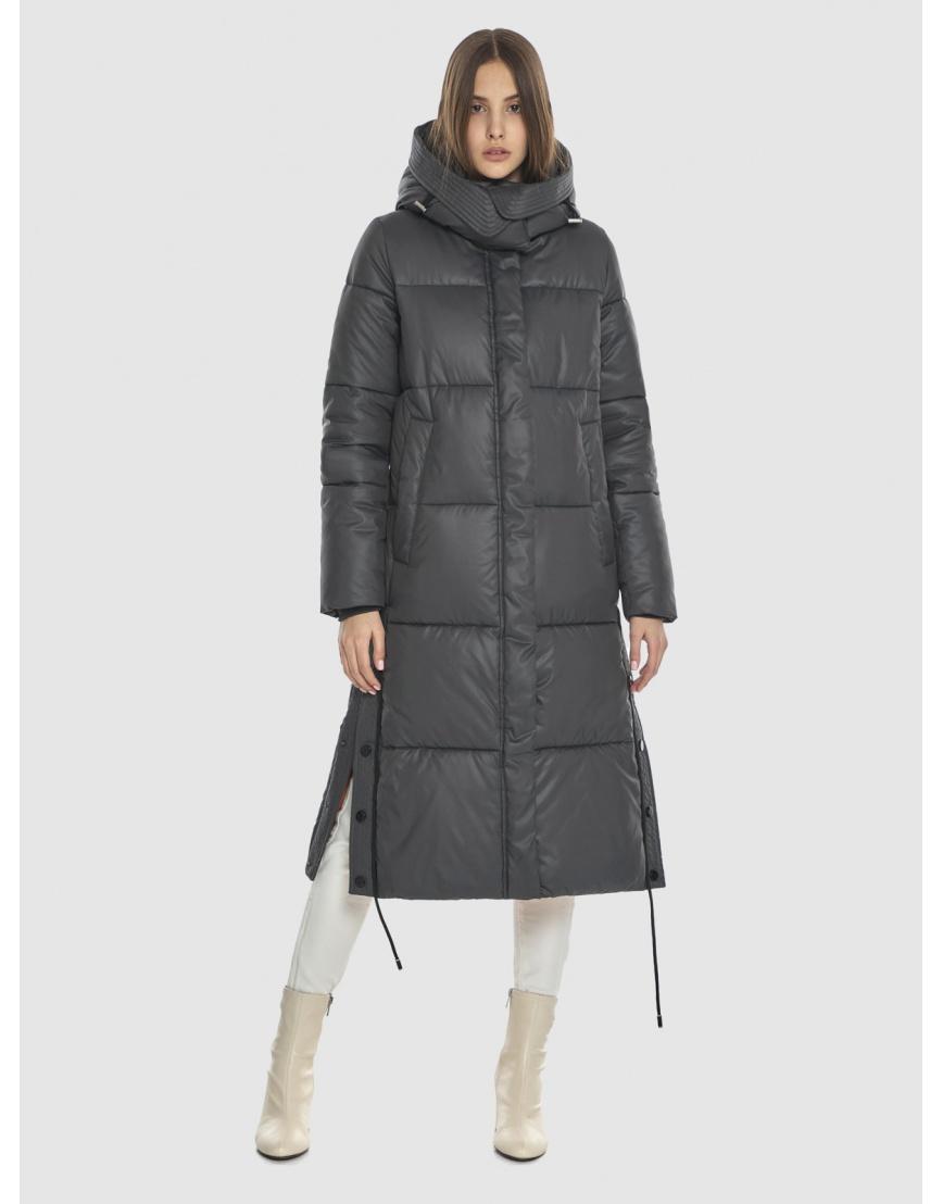 Стильная подростковая зимняя куртка Vivacana серая 7654/21 фото 1